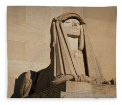 The House Of The Temple Sphinx #2 Fleece Blanket