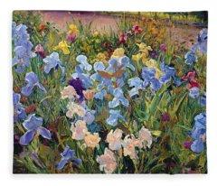 The Iris Bed Fleece Blanket