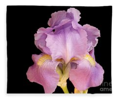 The Iris In All Her Glory Fleece Blanket