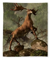 The Irish Elk Fleece Blanket