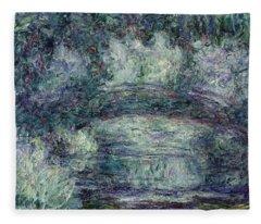 The Japanese Bridge, 1918-19 Oil On Canvas See Detail 382336 Fleece Blanket