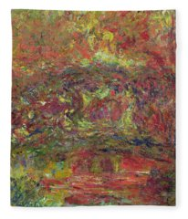 The Japanese Bridge, 1918-24 See Detail 414403 Oil On Canvas Fleece Blanket