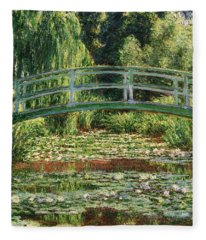 The Japanese Footbridge And The Water Lily Pool Giverny Fleece Blanket