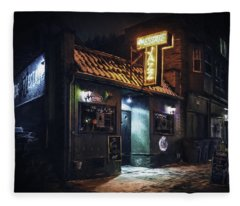 The Jazz Estate Nightclub Fleece Blanket