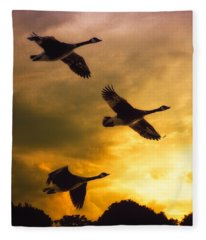 The Journey South Fleece Blanket