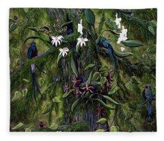 The Jungle Of Guatemala Fleece Blanket