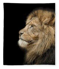 The King Is Dead Long Live The King Fleece Blanket