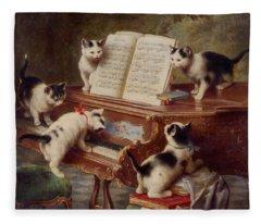 The Kittens Recital Fleece Blanket