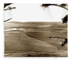 The Lagoon At The Mouth Of The Carmel River  From Fish Ranch California 1905 Fleece Blanket