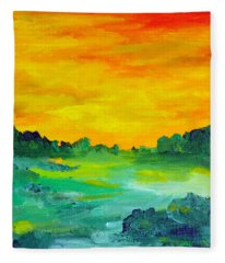 The  Lagoon Fleece Blanket