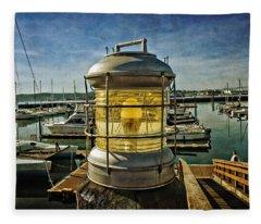 The Lamp At Embarcadero  Fleece Blanket