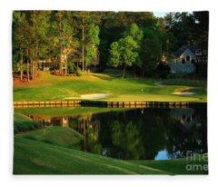 Golf At The Landing #3 In Reynolds Plantation On Lake Oconee Ga Fleece Blanket