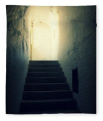 The Light At The Top Of The Stairs Fleece Blanket