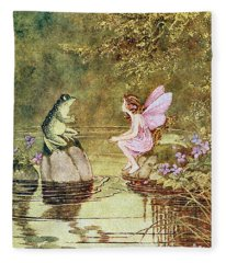 The Little Green Road To Fairyland  Fleece Blanket