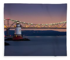 The Little White Lighthouse Fleece Blanket