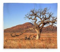 The Lone Tree Fleece Blanket