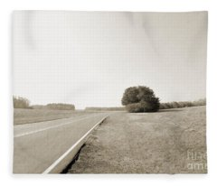 The Lonely Road Fleece Blanket