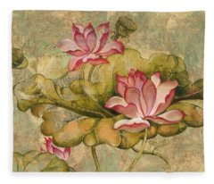 The Lotus Family Fleece Blanket