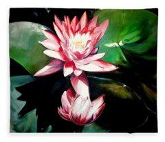 The Lotus Fleece Blanket