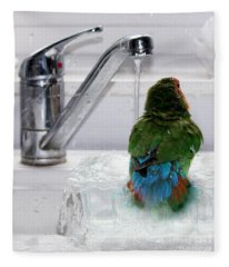 The Lovebird's Shower Fleece Blanket
