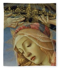 The Madonna Of The Magnificat Fleece Blanket