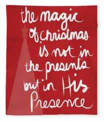 The Magic Of Christmas- Greeting Card Fleece Blanket