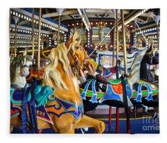The Magical Machine - Carousel Fleece Blanket