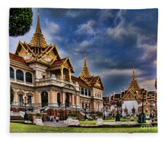 The Majestic Grand Palace Bangkok  Fleece Blanket