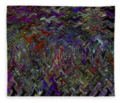 The Making Of A Soul - Color Melt - Creamy Dreamy Color Inside Me  Fleece Blanket