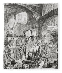 The Man On The Rack Plate II From Carceri D'invenzione Fleece Blanket