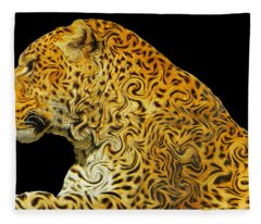 The Mighty Panthera Pardus Fleece Blanket