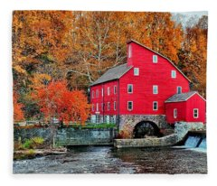 The Mill In Clinton Fleece Blanket