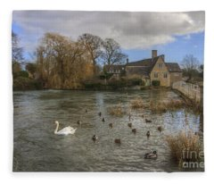 The Millhouse At Fairford Fleece Blanket