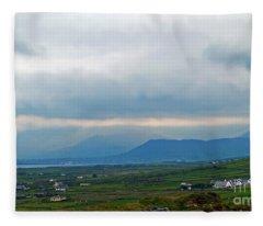 The Misty Hills Of Ireland Fleece Blanket