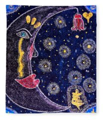 The Moon's Soul Fleece Blanket