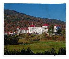 The Mount Washington Hotel In Autumn Fleece Blanket
