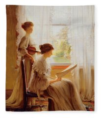 The Music Lesson, C.1890 Fleece Blanket