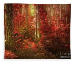 The Mystic Forest Fleece Blanket