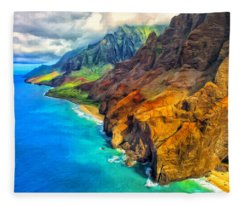 The Na Pali Coast Of Kauai Fleece Blanket