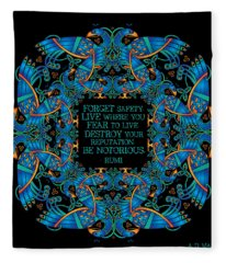 The Notorious Celtic Peacocks Fleece Blanket