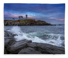 The Nubble In Color Fleece Blanket
