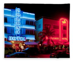 The Ocean Drive Fleece Blanket