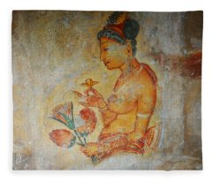 The Ode For The Women Beauty I. Sigiriyan Lady With Flowers. Sigiriya. Sri Lanka Fleece Blanket