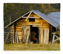 The Old Barn Fleece Blanket