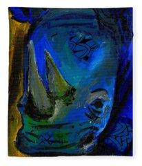 The Old Blue Rhino Fleece Blanket