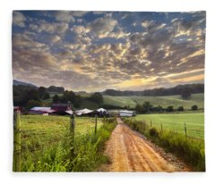 The Old Farm Lane Fleece Blanket