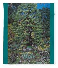 The Old Juniper Tree Fleece Blanket