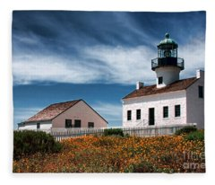 The Old Point Loma Lighthouse By Diana Sainz Fleece Blanket