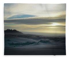 The Oregon Coast Has Many Moods Fleece Blanket