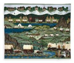 The Oregon Trail Fleece Blanket